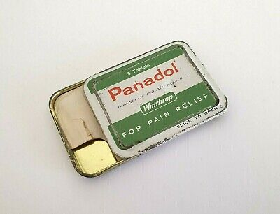 vintage Panadol Sample Tin, Panadol, Vintage tin, suits, Aspro, Vincents, Bex