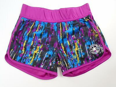 Girls Kids Childrens Converse All Star Shorts Pink Multicolour Age 10-12 Years