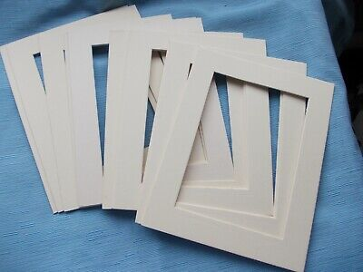"""Pack of 12 Photo,Frame Mounts-Outer 9""""x7""""=Inner 6.5"""" x 4.5""""=Cream =FREE POSTAGE"""
