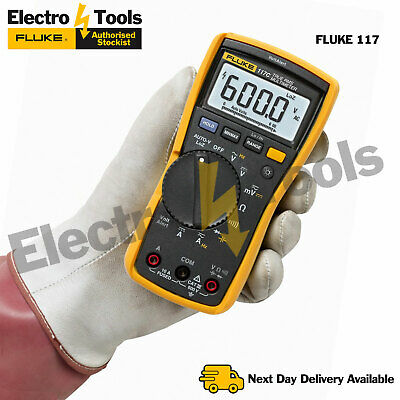 Fluke 117 True RMS HVAC Multimeter inc Test Leads, Integrated Voltage Detection