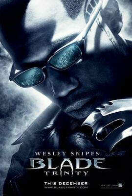 BLADE: TRINITY great original 27x40 D/S movie poster 2004