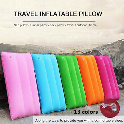 Outdoor Travel Pillows Air Inflatable Pillow Cushion Beach Car Plane Bed Sleep l
