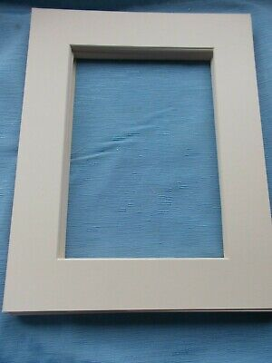 """Pack 13 Photo,Frame Mounts-Outer 14""""x11""""=Inner 10"""" x 7""""=CREAM==FREE POSTAGE"""