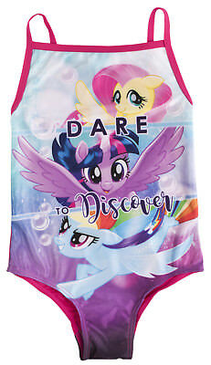 2a5709936feaa My Little Pony Swimming Costume Girls Fluttershy Rainbow Dash MLP Swimwear  Size