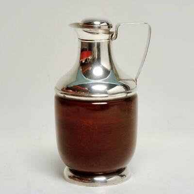 Mid Century Sterling Silver & Mahogany Insulated Pitcher Revere Silver Co. Ny