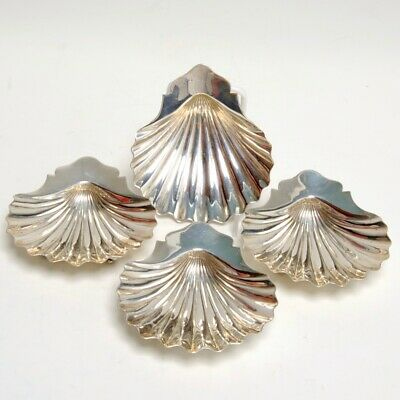 Vintage Set Of 4 Sterling Silver Shell Nut/Candy Dishes By Howard & Co. Ny