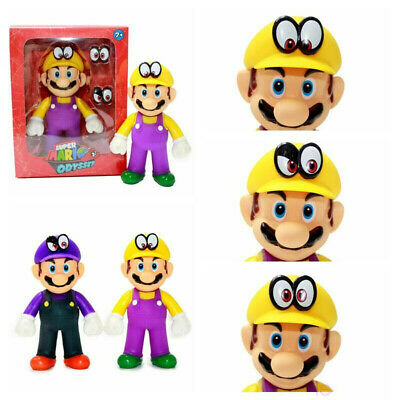 Super Mario Bros 5'' Odyssey Wario WaLuigi Action Figures Toys 2PCS/Set