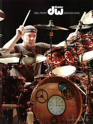 RUSH-Limited Edition-Neil Peart-DW Drums Promotional Print