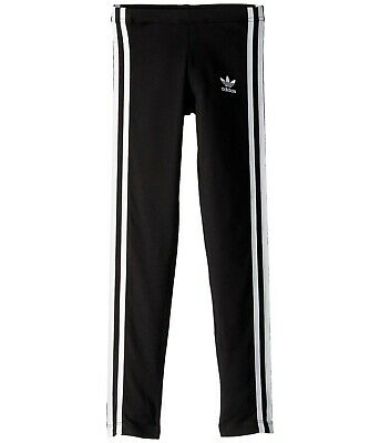 adidas Originals Kids 3-Stripes Leggings Black/White Size XL
