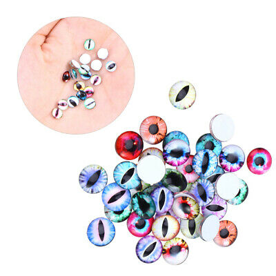 300-Piece DIY 6MM Animal Eyes Glass Cabochon for Stuffed Animal Jewelry Finding
