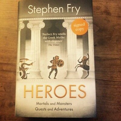 Heroes by Stephen Fry. Signed First Edition UK 1/1