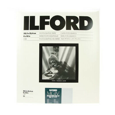Ilford 1771284 8X10 RRC Pearl 25 Sheet  Coated VC Variable Contrast Black & Whit