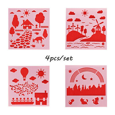 Decorative Wall Painting Embossing Template Layering Stencils Scrapbooking