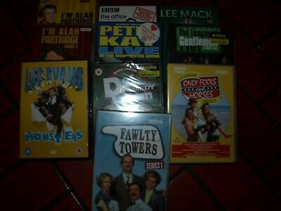 BUNDLE OF DVD'S (10) COMEDY live shows/tv series good condition