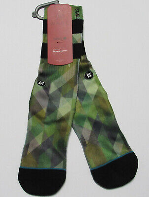 Wade Stance Athletic Combed Cotton Socks Mens  L/XL (9-13)NWT 1 Pair Green