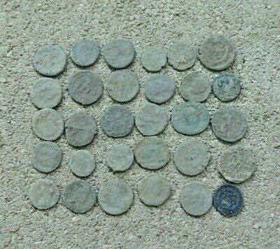 30 pieces to be cleaned Roman coins LOT!