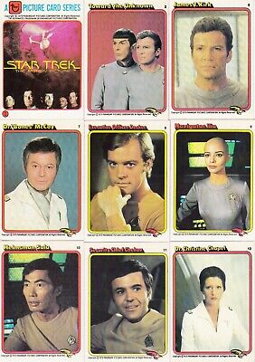 Star Trek The Motion Picture 1979 Rainbo Bread Base Card Set Of 33