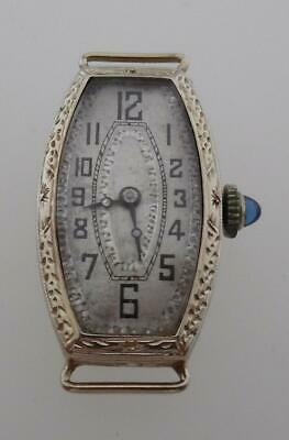 Vintage Antique Art Deco White Gold & Sapphire Early CHOPARD Cocktail Watch (D24
