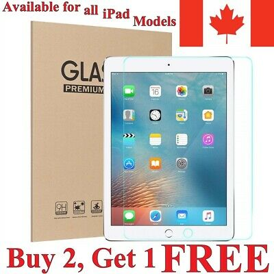 Tempered Glass Screen Protector for iPad Mini 1 2 3 4 5 6 7 Air Pro 9.7 12.9