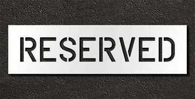 RAE STL-116-70633 Pavement Stencil,Reserved,6 in