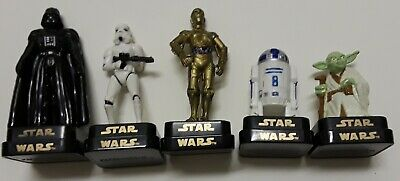 Star Wars Darth Vader, Stormtrooper, CP30, R2D2, & Yoda Figure Rubber Stamp Set