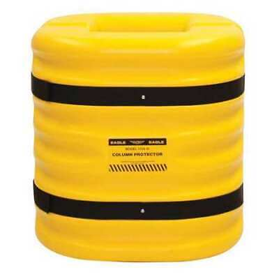ZORO SELECT 17246 Column Protectr,Fits 6 in.,HDPE,Yllw