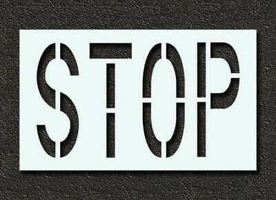 RAE STL-116-72403 Pavement Stencil,Stop,24 in