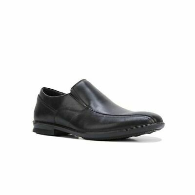 Mens Hush Puppies Callan Men's Black Leather Work Dress Slip On Shoes
