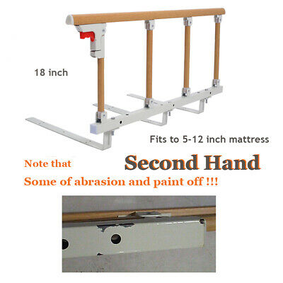 Secondhand - Bed Rail Assist Handle Safety Bed Railing for Elderly Adults 18inch