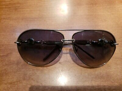 0044fe337a33 GUCCI MARINA sunglasses aviator gg 4225/s chain silver authentic ...