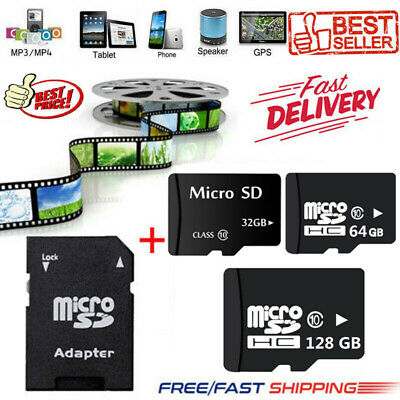 Micro SD Memory Card 64GB 128GB 256GB Flash TF Class 10 SDXC SDHC Card +Adapter
