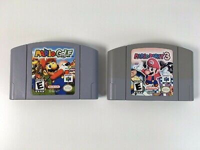 Lot of 2 N64 Games Mario Party 3 and Mario Golf For Nintendo