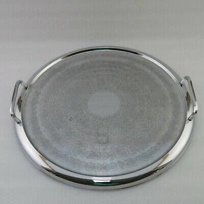 Ranleigh Stainless Steel Art Deco Carry Tray - Australian Made Round