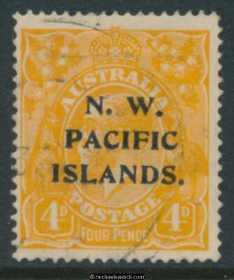 1915 4d Yellow Orange KGV SG 70 type A. used