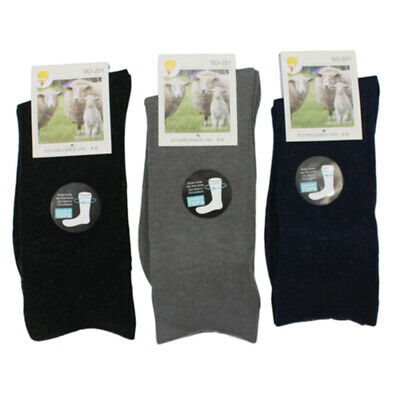 6x Merino Wool Diabetic Loose Top Thermal Socks Medical Circulation Wide Comfort