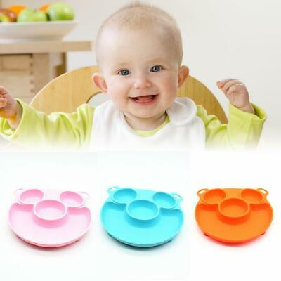 Silicone Baby Snack Mat Toddler Placemats Kids Happy Mat Suction Table Food Tray
