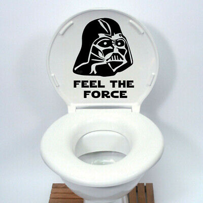 Star Wars Toilet Seat Sticker Funny cartoon Vinyl Decal Home Decor Black