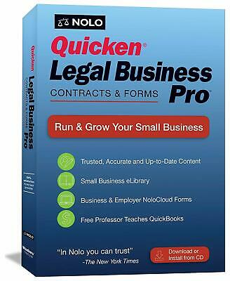 Quicken Legal Business Pro CD & Download 2019 Latest Version Retail Box New