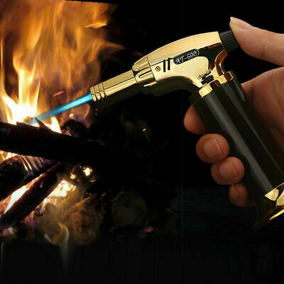 WindproofRefillableLighter Butane Inflatable Torch Fuel Jet Flame Camping Hiking