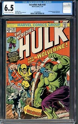 Incredible Hulk 181 CGC 6.5 FN+ OW/W 1st Appearance of Wolverine Marvel 1974