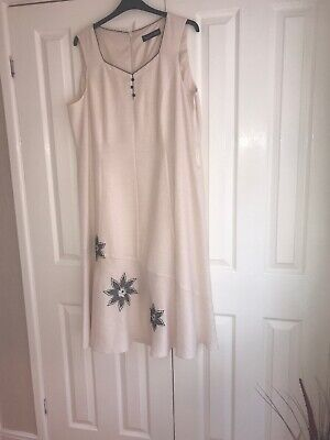 Jacques Vert Linen dress NEW Size 20/22