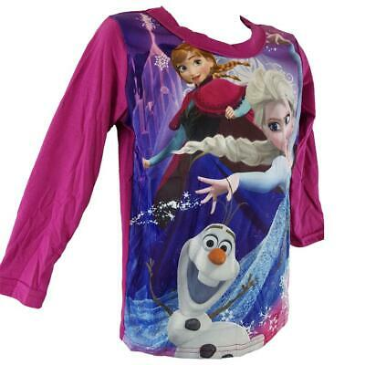 Disney Girls Frozen Long Sleeves Tshirt  Sizes from 4 to 20 years