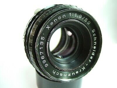 Rare black SCHNEIDER XENON 50mm f/1.9 in M42 mount USM 42mm - Adapt to digital?