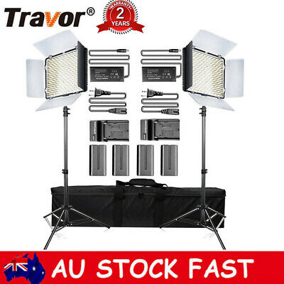 Travor 2pcs 600 LED Video Lighting Studio Lamp with Stand For Photography Camera