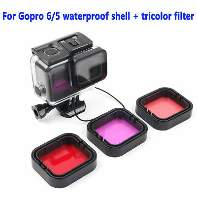 Waterproof Diving Black Camera Accessories 45m Housing Case For GoPro Hero 7 6 5