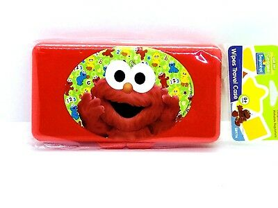 Sesame Street Beginnings ELMO Wipes Travel Case Plastic BPA free