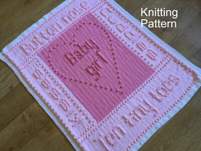 KNITTING PATTERN Baby Blanket - Ten Tiny Toes for BOY or GIRL Plain & Intarsia