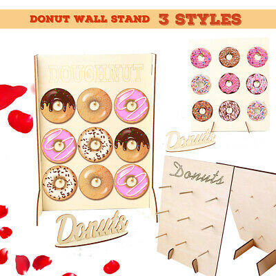 3 Styles Donut Wall Stand Wooden Sweet Doughnut Holds Party Wedding Storage Rack