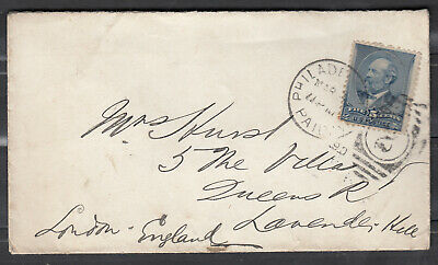 USA Scott #216 Cover March 1890 Philadelphia to London *