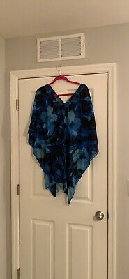 fa8c5b31a0 CARMEN MARC VALVO tie front shirt cover up Botanical size M - $49.99 ...